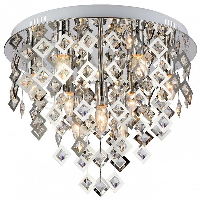 Накладной светильник FavouriteНакладные светильники<br>Артикул - FV_1643-9U,Бренд - Favourite (Германия),Коллекция - Rauten,Гарантия, месяцы - 24,Высота, мм - 400,Диаметр, мм - 500,Тип лампы - компактная люминесцентная [КЛЛ] ИЛИнакаливания ИЛИсветодиодная [LED],Общее кол-во ламп - 9,Напряжение питания лампы, В - 220,Максимальная мощность лампы, Вт - 40,Лампы в комплекте - отсутствуют,Цвет плафонов и подвесок - неокрашенный, хром,Тип поверхности плафонов - глянцевый, прозрачный,Материал плафонов и подвесок - металл, хрусталь,Цвет арматуры - хром,Тип поверхности арматуры - глянцевый,Материал арматуры - металл,Возможность подлючения диммера - можно, если установить лампу накаливания,Тип цоколя лампы - E14,Класс электробезопасности - I,Общая мощность, Вт - 360,Степень пылевлагозащиты, IP - 20,Диапазон рабочих температур - комнатная температура,Дополнительные параметры - способ крепления светильника к потолку - на монтажной пластине<br>
