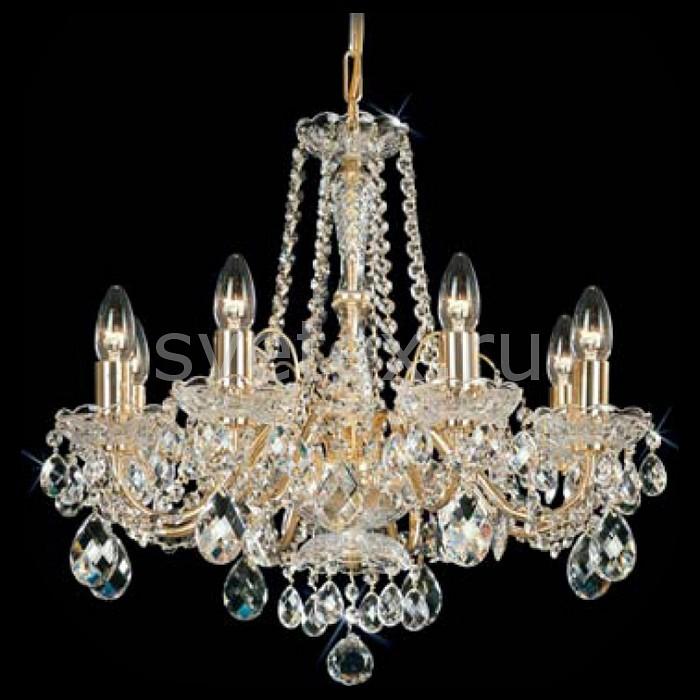 Подвесная люстра PreciosaБолее 6 ламп<br>Артикул - PR_15079800807012135,Бренд - Preciosa (Чехия),Коллекция - Brilliant,Гарантия, месяцы - 24,Время изготовления, дней - 1,Высота, мм - 480,Диаметр, мм - 540,Тип лампы - компактная люминесцентная [КЛЛ] ИЛИнакаливания ИЛИсветодиодная [LED],Общее кол-во ламп - 8,Напряжение питания лампы, В - 220,Максимальная мощность лампы, Вт - 40,Лампы в комплекте - отсутствуют,Цвет плафонов и подвесок - неокрашенный,Тип поверхности плафонов - прозрачный,Материал плафонов и подвесок - хрусталь,Цвет арматуры - латунь, неокрашенный,Тип поверхности арматуры - глянцевый, рельефный,Материал арматуры - металл, хрусталь,Возможность подлючения диммера - можно, если установить лампу накаливания,Форма и тип колбы - свеча ИЛИ свеча на ветру,Тип цоколя лампы - E14,Класс электробезопасности - I,Общая мощность, Вт - 320,Степень пылевлагозащиты, IP - 20,Диапазон рабочих температур - комнатная температура,Дополнительные параметры - указана высота светильника без подвеса<br>
