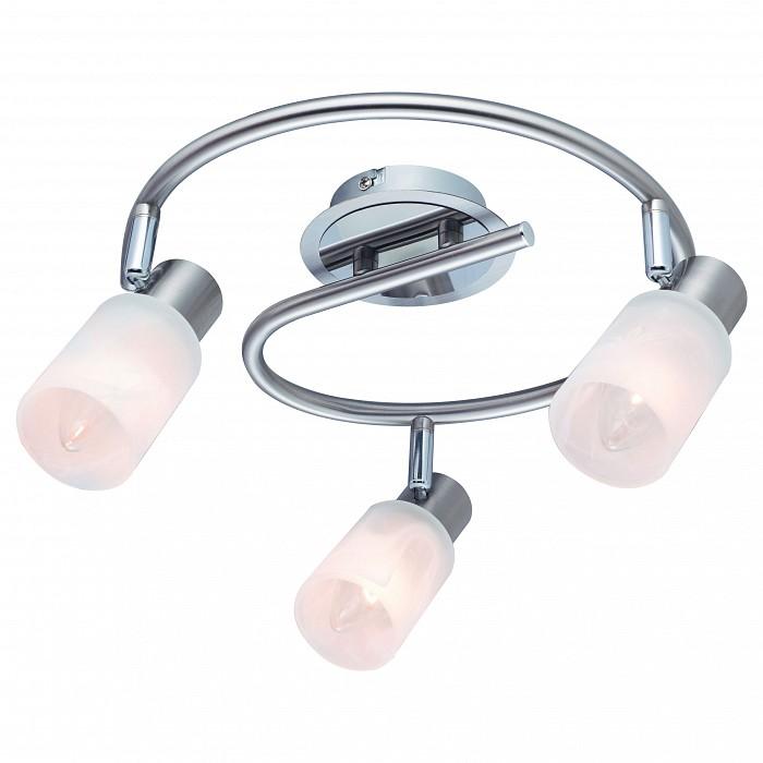 Спот Arte LampСпоты<br>Артикул - AR_A4510PL-3SS,Бренд - Arte Lamp (Италия),Коллекция - Cavalletta,Гарантия, месяцы - 24,Выступ, мм - 180,Диаметр, мм - 300,Тип лампы - компактная люминесцентная [КЛЛ] ИЛИнакаливания ИЛИсветодиодная [LED],Общее кол-во ламп - 3,Напряжение питания лампы, В - 220,Максимальная мощность лампы, Вт - 40,Лампы в комплекте - отсутствуют,Цвет плафонов и подвесок - белый,Тип поверхности плафонов - матовый,Материал плафонов и подвесок - стекло,Цвет арматуры - серебро,Тип поверхности арматуры - матовый,Материал арматуры - металл,Количество плафонов - 3,Возможность подлючения диммера - можно, если установить лампу накаливания,Тип цоколя лампы - E14,Класс электробезопасности - I,Общая мощность, Вт - 120,Степень пылевлагозащиты, IP - 20,Диапазон рабочих температур - комнатная температура,Дополнительные параметры - способ крепления светильника к потолку и стене - на монтажной пластине, поворотный светильник<br>
