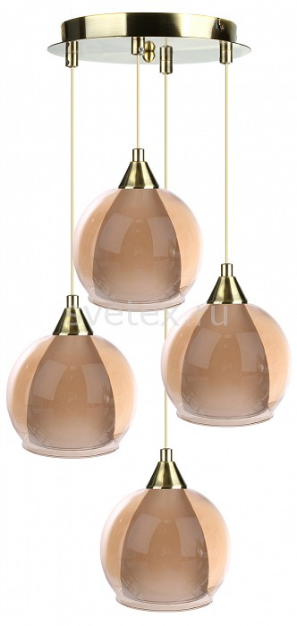 Подвесной светильник 33 идеиДля кухни<br>Артикул - ZZ_PND.101.04.01.AB-S.11_4,Бренд - 33 идеи (Россия),Коллекция - AB_S.11,Высота, мм - 890,Диаметр, мм - 400,Размер упаковки, мм - 340x260x60, 4*160x160x140,Тип лампы - компактная люминесцентная [КЛЛ] ИЛИнакаливания ИЛИсветодиодная [LED],Общее кол-во ламп - 4,Напряжение питания лампы, В - 220,Максимальная мощность лампы, Вт - 60,Лампы в комплекте - отсутствуют,Цвет плафонов и подвесок - бежевый,Тип поверхности плафонов - матовый, прозрачный,Материал плафонов и подвесок - стекло,Цвет арматуры - латунь античная,Тип поверхности арматуры - глянцевый,Материал арматуры - металл,Количество плафонов - 4,Возможность подлючения диммера - можно, если установить лампу накаливания,Тип цоколя лампы - E14,Класс электробезопасности - I,Общая мощность, Вт - 240,Степень пылевлагозащиты, IP - 20,Диапазон рабочих температур - комнатная температура,Дополнительные параметры - диаметр основания светильника 250 мм, диаметр плафона 150 мм, способ крепления светильника к потолку – на монтажной пластине<br>