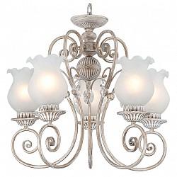 Подвесная люстра ST-Luce5 или 6 ламп<br>Артикул - SL220.203.05,Бренд - ST-Luce (Китай),Коллекция - Ninfea,Гарантия, месяцы - 24,Высота, мм - 1200,Размер упаковки, мм - 640x390x220,Тип лампы - компактная люминесцентная [КЛЛ] ИЛИнакаливания ИЛИсветодиодная [LED],Общее кол-во ламп - 5,Напряжение питания лампы, В - 220,Максимальная мощность лампы, Вт - 40,Лампы в комплекте - отсутствуют,Цвет плафонов и подвесок - белый,Тип поверхности плафонов - матовый,Материал плафонов и подвесок - стекло,Цвет арматуры - слоновая кость с золотой патиной,Тип поверхности арматуры - матовый, рельефный,Материал арматуры - металл,Возможность подлючения диммера - можно, если установить лампу накаливания,Тип цоколя лампы - E14,Класс электробезопасности - I,Общая мощность, Вт - 200,Степень пылевлагозащиты, IP - 20,Диапазон рабочих температур - комнатная температура,Дополнительные параметры - способ крепления светильника к потолоку - на крюке, регулируется по высоте<br>