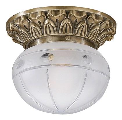 Накладной светильник Reccagni AngeloКруглые<br>Артикул - RA_PL_7714_1,Бренд - Reccagni Angelo (Италия),Коллекция - 771,Гарантия, месяцы - 24,Выступ, мм - 140,Диаметр, мм - 160,Тип лампы - компактная люминесцентная [КЛЛ] ИЛИнакаливания ИЛИсветодиодная [LED],Общее кол-во ламп - 1,Напряжение питания лампы, В - 220,Максимальная мощность лампы, Вт - 60,Лампы в комплекте - отсутствуют,Цвет плафонов и подвесок - белый с рисунком,Тип поверхности плафонов - матовый,Материал плафонов и подвесок - стекло,Цвет арматуры - бронза состаренная,Тип поверхности арматуры - матовый, рельефный,Материал арматуры - латунь,Количество плафонов - 1,Возможность подлючения диммера - можно, если установить лампу накаливания,Тип цоколя лампы - E27,Класс электробезопасности - I,Степень пылевлагозащиты, IP - 20,Диапазон рабочих температур - комнатная температура,Дополнительные параметры - способ крепления светильника к потолку - на монтажной пластине<br>