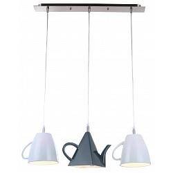 Подвесной светильник Arte LampДля кухни<br>Артикул - AR_A6604SP-3WH,Бренд - Arte Lamp (Италия),Коллекция - Brooklyn,Гарантия, месяцы - 24,Высота, мм - 1210,Тип лампы - компактная люминесцентная [КЛЛ] ИЛИнакаливания ИЛИсветодиодная [LED],Общее кол-во ламп - 3,Напряжение питания лампы, В - 220,Максимальная мощность лампы, Вт - 40,Лампы в комплекте - отсутствуют,Цвет плафонов и подвесок - белый, черный,Тип поверхности плафонов - глянцевый,Материал плафонов и подвесок - полимер,Цвет арматуры - хром,Тип поверхности арматуры - глянцевый,Материал арматуры - металл,Возможность подлючения диммера - можно, если установить лампу накаливания,Тип цоколя лампы - E14,Класс электробезопасности - I,Общая мощность, Вт - 120,Степень пылевлагозащиты, IP - 20,Диапазон рабочих температур - комнатная температура<br>