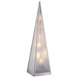Настольная лампа GloboПолимерные<br>Артикул - GB_29935,Бренд - Globo (Австрия),Коллекция - Pyramide,Гарантия, месяцы - 24,Высота, мм - 450,Тип лампы - светодиодная [LED],Общее кол-во ламп - 16,Напряжение питания лампы, В - 220,Максимальная мощность лампы, Вт - 0.03,Лампы в комплекте - светодиодные [LED],Цвет плафонов и подвесок - неокрашенный,Тип поверхности плафонов - матовый,Материал плафонов и подвесок - полимер,Цвет арматуры - белый,Тип поверхности арматуры - матовый,Материал арматуры - сталь нержавеющая,Класс электробезопасности - II,Степень пылевлагозащиты, IP - 20,Диапазон рабочих температур - комнатная температура<br>