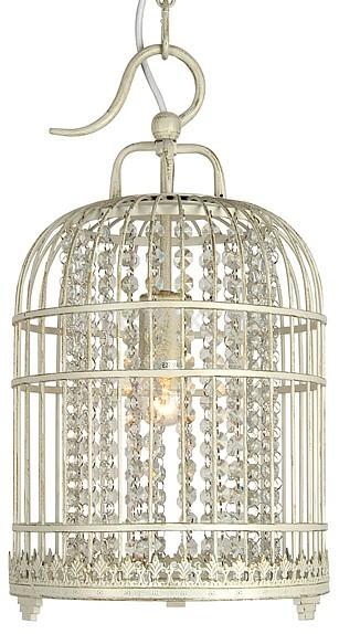 Подвесной светильник FavouriteПодвесные светильники<br>Артикул - FV_1249-1P,Бренд - Favourite (Германия),Коллекция - Cage,Гарантия, месяцы - 24,Время изготовления, дней - 1,Высота, мм - 460-1000,Диаметр, мм - 250,Тип лампы - компактная люминесцентная [КЛЛ] ИЛИнакаливания ИЛИсветодиодная [LED],Общее кол-во ламп - 1,Напряжение питания лампы, В - 220,Максимальная мощность лампы, Вт - 60,Лампы в комплекте - отсутствуют,Цвет плафонов и подвесок - белый, неокрашенный,Тип поверхности плафонов - матовый,Материал плафонов и подвесок - металл, хрусталь,Цвет арматуры - белый,Тип поверхности арматуры - матовый,Материал арматуры - металл,Количество плафонов - 1,Возможность подлючения диммера - можно, если установить лампу накаливания,Тип цоколя лампы - E27,Класс электробезопасности - I,Степень пылевлагозащиты, IP - 20,Диапазон рабочих температур - комнатная температура,Дополнительные параметры - способ крепления светильника к потолку — на крюке<br>