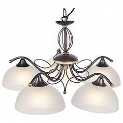 Подвесная люстра Globo5 или 6 ламп<br>Артикул - GB_68412-5,Бренд - Globo (Австрия),Коллекция - Aries I,Гарантия, месяцы - 24,Высота, мм - 1150,Диаметр, мм - 560,Размер упаковки, мм - 470х210х490,Тип лампы - компактная люминесцентная [КЛЛ] ИЛИнакаливания ИЛИсветодиодная [LED],Общее кол-во ламп - 5,Напряжение питания лампы, В - 220,Максимальная мощность лампы, Вт - 60,Лампы в комплекте - отсутствуют,Цвет плафонов и подвесок - белый алебастр,Тип поверхности плафонов - матовый,Материал плафонов и подвесок - стекло,Цвет арматуры - коричневый,Тип поверхности арматуры - матовый,Материал арматуры - металл,Возможность подлючения диммера - можно, если установить лампу накаливания,Тип цоколя лампы - E27,Класс электробезопасности - I,Общая мощность, Вт - 300,Степень пылевлагозащиты, IP - 20,Диапазон рабочих температур - комнатная температура,Дополнительные параметры - регулируется по высоте,  способ крепления светильника к потолку – на крюке<br>