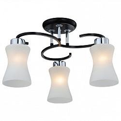 Люстра на штанге IDLampНе более 4 ламп<br>Артикул - ID_868_3PF-dark,Бренд - IDLamp (Италия),Коллекция - 868,Гарантия, месяцы - 24,Время изготовления, дней - 1,Высота, мм - 300,Диаметр, мм - 520,Тип лампы - компактная люминесцентная [КЛЛ] ИЛИнакаливания ИЛИсветодиодная [LED],Общее кол-во ламп - 3,Напряжение питания лампы, В - 220,Максимальная мощность лампы, Вт - 60,Лампы в комплекте - отсутствуют,Цвет плафонов и подвесок - белый,Тип поверхности плафонов - глянцевый,Материал плафонов и подвесок - стекло,Цвет арматуры - хром, черный,Тип поверхности арматуры - глянцевый,Материал арматуры - металл,Возможность подлючения диммера - можно, если установить лампу накаливания,Тип цоколя лампы - E27,Класс электробезопасности - I,Общая мощность, Вт - 180,Степень пылевлагозащиты, IP - 20,Диапазон рабочих температур - комнатная температура,Дополнительные параметры - способ крепления светильника к потолку — на монтажной пластине, если Вам нужно повесить светильник на крюк, укажите это в комментарии к заказу, - мы положим в подарок пластину с ушком для крюка<br>