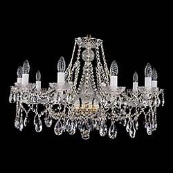 Подвесная люстра Bohemia Ivele CrystalБолее 6 ламп<br>Артикул - BI_1413_10_300,Бренд - Bohemia Ivele Crystal (Чехия),Коллекция - 1413,Гарантия, месяцы - 12,Высота, мм - 530,Диаметр, мм - 820,Размер упаковки, мм - 510x510x200,Тип лампы - компактная люминесцентная [КЛЛ] ИЛИнакаливания ИЛИсветодиодная [LED],Общее кол-во ламп - 10,Напряжение питания лампы, В - 220,Максимальная мощность лампы, Вт - 40,Лампы в комплекте - отсутствуют,Цвет плафонов и подвесок - неокрашенный,Тип поверхности плафонов - прозрачный,Материал плафонов и подвесок - хрусталь,Цвет арматуры - золото, неокрашенный,Тип поверхности арматуры - глянцевый, прозрачный,Материал арматуры - металл, стекло,Возможность подлючения диммера - можно, если установить лампу накаливания,Форма и тип колбы - свеча ИЛИ свеча на ветру,Тип цоколя лампы - E14,Класс электробезопасности - I,Общая мощность, Вт - 400,Степень пылевлагозащиты, IP - 20,Диапазон рабочих температур - комнатная температура,Дополнительные параметры - способ крепления светильника к потолку – на крюке<br>
