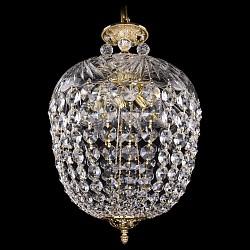 Подвесной светильник Bohemia Ivele CrystalС 1 плафоном<br>Артикул - BI_1677_35_G_Balls,Бренд - Bohemia Ivele Crystal (Чехия),Коллекция - 1677,Гарантия, месяцы - 24,Высота, мм - 550,Диаметр, мм - 350,Размер упаковки, мм - 450x450x230,Тип лампы - компактная люминесцентная [КЛЛ] ИЛИнакаливания ИЛИсветодиодная [LED],Общее кол-во ламп - 6,Напряжение питания лампы, В - 220,Максимальная мощность лампы, Вт - 40,Лампы в комплекте - отсутствуют,Цвет плафонов и подвесок - неокрашенный,Тип поверхности плафонов - прозрачный,Материал плафонов и подвесок - стекло, хрусталь,Цвет арматуры - золото,Тип поверхности арматуры - глянцевый, рельефный,Материал арматуры - латунь, стекло,Возможность подлючения диммера - можно, если установить лампу накаливания,Тип цоколя лампы - E14,Класс электробезопасности - I,Общая мощность, Вт - 240,Степень пылевлагозащиты, IP - 20,Диапазон рабочих температур - комнатная температура,Дополнительные параметры - способ крепления светильника к потолку - на крюке, указана высота светильника без подвеса<br>