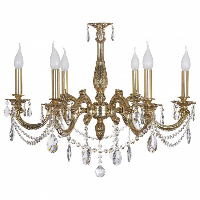 Подвесная люстра Dio D'Arte5 или 6 ламп<br>Артикул - DDA_Treviso_E_1.1.6.400_COG,Бренд - Dio D'Arte (Италия),Коллекция - Treviso,Гарантия, месяцы - 24,Высота, мм - 600,Диаметр, мм - 700,Тип лампы - компактная люминесцентная [КЛЛ] ИЛИнакаливания ИЛИсветодиодная  [LED],Общее кол-во ламп - 6,Напряжение питания лампы, В - 220,Максимальная мощность лампы, Вт - 40,Лампы в комплекте - отсутствуют,Цвет плафонов и подвесок - неокрашенный,Тип поверхности плафонов - прозрачный,Материал плафонов и подвесок - хрусталь Swarovski Elements,Цвет арматуры - золото,Тип поверхности арматуры - глянцевый,Материал арматуры - металл,Возможность подлючения диммера - можно, если установить лампу накаливания,Форма и тип колбы - свеча ИЛИ свеча на ветру,Тип цоколя лампы - E14,Класс электробезопасности - I,Общая мощность, Вт - 240,Степень пылевлагозащиты, IP - 20,Диапазон рабочих температур - комнатная температура,Дополнительные параметры - способ крепления светильника к потолку - на крюке, указана высота светильника без подвеса<br>
