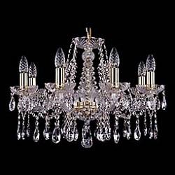 Подвесная люстра Bohemia Ivele CrystalБолее 6 ламп<br>Артикул - BI_1413_8_200_G,Бренд - Bohemia Ivele Crystal (Чехия),Коллекция - 1413,Гарантия, месяцы - 24,Высота, мм - 400,Диаметр, мм - 570,Размер упаковки, мм - 450x450x200,Тип лампы - компактная люминесцентная [КЛЛ] ИЛИнакаливания ИЛИсветодиодная [LED],Общее кол-во ламп - 8,Напряжение питания лампы, В - 220,Максимальная мощность лампы, Вт - 40,Лампы в комплекте - отсутствуют,Цвет плафонов и подвесок - неокрашенный,Тип поверхности плафонов - прозрачный,Материал плафонов и подвесок - хрусталь,Цвет арматуры - золото, неокрашенный,Тип поверхности арматуры - глянцевый, прозрачный, рельефный,Материал арматуры - металл, стекло,Возможность подлючения диммера - можно, если установить лампу накаливания,Форма и тип колбы - свеча ИЛИ свеча на ветру,Тип цоколя лампы - E14,Класс электробезопасности - I,Общая мощность, Вт - 320,Степень пылевлагозащиты, IP - 20,Диапазон рабочих температур - комнатная температура,Дополнительные параметры - способ крепления светильника к потолку - на крюке, указана высота светильника без подвеса<br>