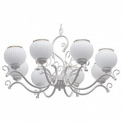 Подвесная люстра De MarktБолее 6 ламп<br>Артикул - MW_450015908,Бренд - De Markt (Германия),Коллекция - Ариадна 19,Гарантия, месяцы - 24,Высота, мм - 810-1060,Диаметр, мм - 780,Тип лампы - компактная люминесцентная [КЛЛ] ИЛИнакаливания ИЛИсветодиодная [LED],Общее кол-во ламп - 8,Напряжение питания лампы, В - 220,Максимальная мощность лампы, Вт - 60,Лампы в комплекте - отсутствуют,Цвет плафонов и подвесок - белый с каймой,Тип поверхности плафонов - матовый, рельефный,Материал плафонов и подвесок - стекло,Цвет арматуры - белый,Тип поверхности арматуры - матовый,Материал арматуры - металл,Возможность подлючения диммера - можно, если установить лампу накаливания,Тип цоколя лампы - E27,Класс электробезопасности - I,Общая мощность, Вт - 480,Степень пылевлагозащиты, IP - 20,Диапазон рабочих температур - комнатная температура,Дополнительные параметры - регулируется по высоте, способ крепления светильника к потолку – на крюке<br>