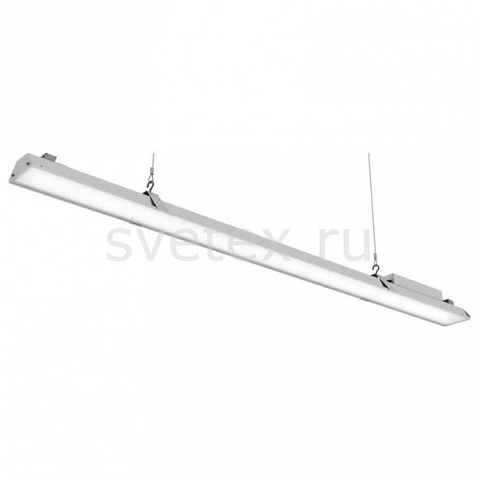 Подвесной светильник Led EffectСветодиодные<br>Артикул - LED_388752,Бренд - Led Effect (Россия),Коллекция - Ритейл Лайт,Гарантия, месяцы - 36,Длина, мм - 1443,Ширина, мм - 110,Высота, мм - 92,Размер упаковки, мм - 1570x130x95,Тип лампы - светодиодная [LED],Общее кол-во ламп - 1,Максимальная мощность лампы, Вт - 40,Цвет лампы - белый,Лампы в комплекте - светодиодная [LED],Цвет плафонов и подвесок - белый,Тип поверхности плафонов - матовый,Материал плафонов и подвесок - полимер,Цвет арматуры - белый,Тип поверхности арматуры - матовый,Материал арматуры - металл,Количество плафонов - 1,Цветовая температура, K - 4000 K,Световой поток, лм - 3300,Экономичнее лампы накаливания - В 5, 4 раза,Светоотдача, лм/Вт - 83,Ресурс лампы - 50 тыс. час.,Класс электробезопасности - I,Напряжение питания, В - 175-260,Коэффициент мощности - 0.9,Степень пылевлагозащиты, IP - 20,Диапазон рабочих температур - от -0^C до +45^C,Индекс цветопередачи, % - 80,Пульсации светового потока, % менее - 1,Климатическое исполнение - УХЛ 4,Дополнительные параметры - проходной светильник, указана высота светильника без подвеса, текстурированный рассеиватель<br>
