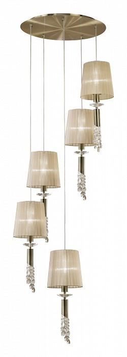 Подвесная люстра MantraТекстильные плафоны<br>Артикул - MN_3877,Бренд - Mantra (Испания),Коллекция - Tiffany,Гарантия, месяцы - 24,Время изготовления, дней - 1,Высота, мм - 2000,Диаметр, мм - 600,Тип лампы - галогеновая, компактная люминесцентная [КЛЛ] ИЛИсветодиодные [LED],Количество ламп - 5, 5,Общее кол-во ламп - 10,Напряжение питания лампы, В - 220,Максимальная мощность лампы, Вт - 5, 20,Лампы в комплекте - отсутствуют,Цвет плафонов и подвесок - кремовый, неокрашенный,Тип поверхности плафонов - матовый, прозрачный,Материал плафонов и подвесок - органза, хрусталь,Цвет арматуры - бронза, неокрашенный,Тип поверхности арматуры - глянцевый, прозрачный,Материал арматуры - металл, стекло,Количество плафонов - 5,Возможность подлючения диммера - можно, если установить галогеновую лампу и лампу накаливания,Тип цоколя лампы - G9, E27,Класс электробезопасности - I,Общая мощность, Вт - 125,Степень пылевлагозащиты, IP - 20,Диапазон рабочих температур - комнатная температура<br>