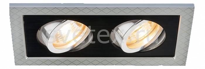 Встраиваемый светильник ElektrostandardСветильники<br>Артикул - ELK_a036412,Бренд - Elektrostandard (Россия),Коллекция - 1041,Гарантия, месяцы - 24,Длина, мм - 185,Ширина, мм - 105,Высота, мм - 28,Выступ, мм - 3,Глубина, мм - 25,Размер врезного отверстия, мм - 155x75,Тип лампы - галогеновая ИЛИсветодиодная [LED],Общее кол-во ламп - 2,Напряжение питания лампы, В - 220,Максимальная мощность лампы, Вт - 50,Лампы в комплекте - отсутствуют,Цвет арматуры - серебро, черный,Тип поверхности арматуры - матовый,Материал арматуры - дюралюминий,Компоненты, входящие в комплект - рефлектор,Форма и тип колбы - пальчиковая,Тип цоколя лампы - G5.3,Класс электробезопасности - I,Общая мощность, Вт - 100,Степень пылевлагозащиты, IP - 20,Диапазон рабочих температур - комнатная температура,Дополнительные параметры - поворотный светильник<br>