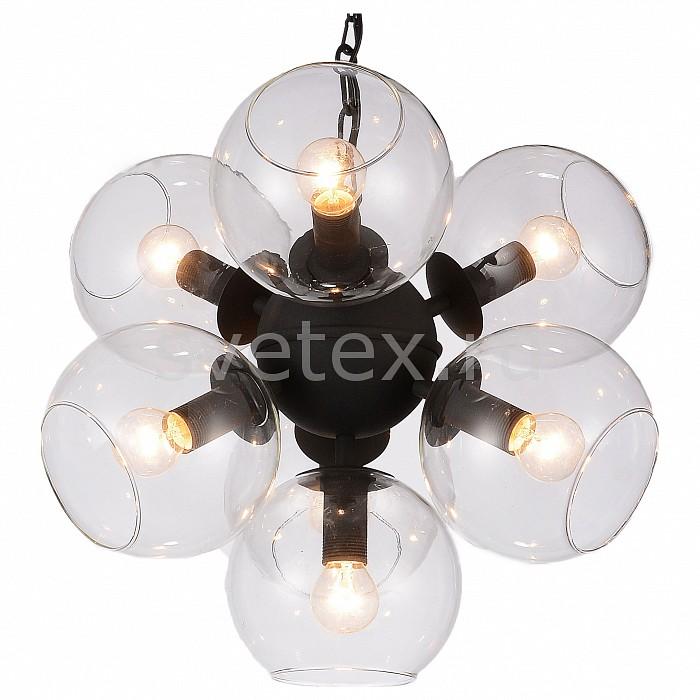 Подвесная люстра FavouriteЛюстры<br>Артикул - FV_1491-7P,Бренд - Favourite (Германия),Коллекция - Schoppen,Гарантия, месяцы - 24,Высота, мм - 380-1380,Диаметр, мм - 460,Тип лампы - компактная люминесцентная [КЛЛ] ИЛИнакаливания ИЛИсветодиодная [LED],Общее кол-во ламп - 7,Напряжение питания лампы, В - 220,Максимальная мощность лампы, Вт - 40,Лампы в комплекте - отсутствуют,Цвет плафонов и подвесок - неокрашенный,Тип поверхности плафонов - прозрачный,Материал плафонов и подвесок - стекло,Цвет арматуры - черный,Тип поверхности арматуры - матовый,Материал арматуры - металл,Количество плафонов - 7,Возможность подлючения диммера - можно, если установить лампу накаливания,Тип цоколя лампы - E14,Класс электробезопасности - I,Общая мощность, Вт - 280,Степень пылевлагозащиты, IP - 20,Диапазон рабочих температур - комнатная температура,Дополнительные параметры - способ крепления светильника к потолку - на монтажной пластине, регулируется по высоте<br>
