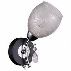 Бра IDLampС 1 лампой<br>Артикул - ID_843_1A-Blackchrome,Бренд - IDLamp (Италия),Коллекция - 843,Гарантия, месяцы - 24,Высота, мм - 250,Тип лампы - компактная люминесцентная [КЛЛ] ИЛИнакаливания ИЛИсветодиодная [LED],Общее кол-во ламп - 1,Напряжение питания лампы, В - 220,Максимальная мощность лампы, Вт - 60,Лампы в комплекте - отсутствуют,Цвет плафонов и подвесок - неокрашенный с рисунком,Тип поверхности плафонов - матовый,Материал плафонов и подвесок - стекло,Цвет арматуры - хром, черный,Тип поверхности арматуры - глянцевый, матовый,Материал арматуры - металл,Возможность подлючения диммера - можно, если установить лампу накаливания,Тип цоколя лампы - E14,Степень пылевлагозащиты, IP - 20,Диапазон рабочих температур - комнатная температура,Дополнительные параметры - светильник предназначен для использования со скрытой проводкой<br>