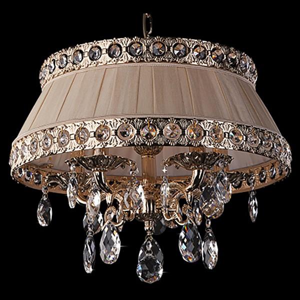 Фото Подвесной светильник Eurosvet 3311 3311/5 золото/прозрачный хрусталь Strotskis