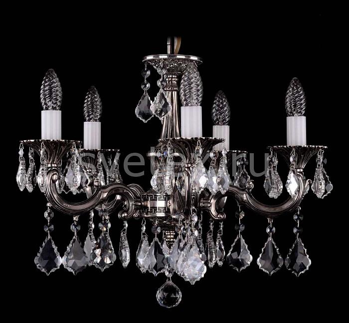 Фото Подвесная люстра Bohemia Ivele Crystal 1701 1701/5/A/NB/Leafs