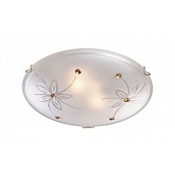 Накладной светильник SonexКруглые<br>Артикул - SN_349,Бренд - Sonex (Россия),Коллекция - Floret,Гарантия, месяцы - 24,Диаметр, мм - 500,Тип лампы - компактная люминесцентная [КЛЛ] ИЛИнакаливания ИЛИсветодиодная [LED],Общее кол-во ламп - 3,Напряжение питания лампы, В - 220,Максимальная мощность лампы, Вт - 100,Лампы в комплекте - отсутствуют,Цвет плафонов и подвесок - белый с рисунком, желтый,Тип поверхности плафонов - рельефный, матовый, глянцевый,Материал плафонов и подвесок - стекло,Цвет арматуры - золото,Тип поверхности арматуры - глянцевый,Материал арматуры - металл,Возможность подлючения диммера - можно, если установить лампу накаливания,Тип цоколя лампы - E27,Класс электробезопасности - I,Общая мощность, Вт - 300,Степень пылевлагозащиты, IP - 20,Диапазон рабочих температур - комнатная температура<br>