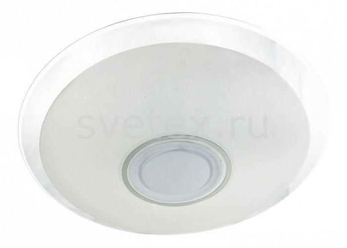 Накладной светильник OmniluxКруглые<br>Артикул - OM_OML-47307-52,Бренд - Omnilux (Италия),Коллекция - Melofon,Гарантия, месяцы - 24,Время изготовления, дней - 1,Высота, мм - 75,Диаметр, мм - 555,Тип лампы - светодиодная [LED],Общее кол-во ламп - 1,Напряжение питания лампы, В - 220,Максимальная мощность лампы, Вт - 52,Цвет лампы - RGB,Лампы в комплекте - светодиодная [LED],Цвет плафонов и подвесок - белый,Тип поверхности плафонов - матовый,Материал плафонов и подвесок - стекло,Цвет арматуры - белый,Тип поверхности арматуры - матовый,Материал арматуры - металл,Количество плафонов - 1,Экономичнее лампы накаливания - в 10 раз,Класс электробезопасности - I,Степень пылевлагозащиты, IP - 20,Диапазон рабочих температур - комнатная температура,Дополнительные параметры - способ крепления светильника к потолку – на монтажной пластине, светильник позволяет проигрывать мелодии со смартфона через Bluetooth и меняет цвет свечения в процессе работы по желанию пользователя<br>