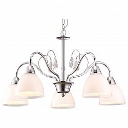 Подвесная люстра Arte Lamp5 или 6 ламп<br>Артикул - AR_A9488LM-5CC,Бренд - Arte Lamp (Италия),Коллекция - Caprice,Гарантия, месяцы - 24,Время изготовления, дней - 1,Высота, мм - 340-900,Диаметр, мм - 560,Тип лампы - компактная люминесцентная [КЛЛ] ИЛИнакаливания ИЛИсветодиодная [LED],Общее кол-во ламп - 5,Напряжение питания лампы, В - 220,Максимальная мощность лампы, Вт - 40,Лампы в комплекте - отсутствуют,Цвет плафонов и подвесок - белый с каймой, неокрашенный,Тип поверхности плафонов - матовый, прозрачный,Материал плафонов и подвесок - стекло, хрусталь,Цвет арматуры - хром,Тип поверхности арматуры - глянцевый,Материал арматуры - металл,Возможность подлючения диммера - можно, если установить лампу накаливания,Тип цоколя лампы - E14,Класс электробезопасности - I,Общая мощность, Вт - 200,Степень пылевлагозащиты, IP - 20,Диапазон рабочих температур - комнатная температура,Дополнительные параметры - способ крепления светильника к потолку – на монтажной пластине или крюке<br>