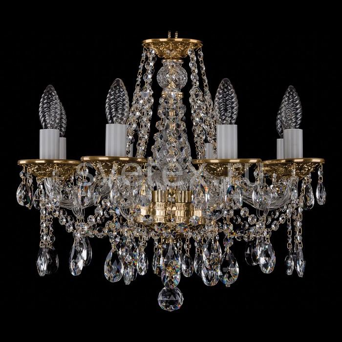 Фото Подвесная люстра Bohemia Ivele Crystal 1613 1613/8/165/G