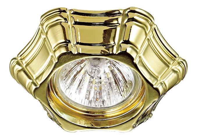Встраиваемый светильник NovotechВстраиваемые светильники<br>Артикул - NV_370251,Бренд - Novotech (Венгрия),Коллекция - Forza,Гарантия, месяцы - 24,Высота, мм - 40,Выступ, мм - 20,Глубина, мм - 20,Диаметр, мм - 100,Размер врезного отверстия, мм - 60,Размер упаковки, мм - 45х100х100,Тип лампы - компактная люминесцентная [КЛЛ]ИЛИнакаливания ИЛИсветодиодная [LED],Общее кол-во ламп - 1,Напряжение питания лампы, В - 12,Максимальная мощность лампы, Вт - 50,Лампы в комплекте - отсутствуют,Цвет арматуры - золото,Тип поверхности арматуры - глянцевый, металлик, рельефный,Материал арматуры - сплав цинка,Возможность подлючения диммера - можно, если установить галогеновую лампу и подключить трансформатор 12 В с возможностью диммирования,Необходимые компоненты - блок питания 12 В,Компоненты, входящие в комплект - нет,Форма и тип колбы - полусферическая с рефлектором,Тип цоколя лампы - GX5.3,Класс электробезопасности - III,Напряжение питания, В - 220,Степень пылевлагозащиты, IP - 20,Диапазон рабочих температур - комнатная температура<br>