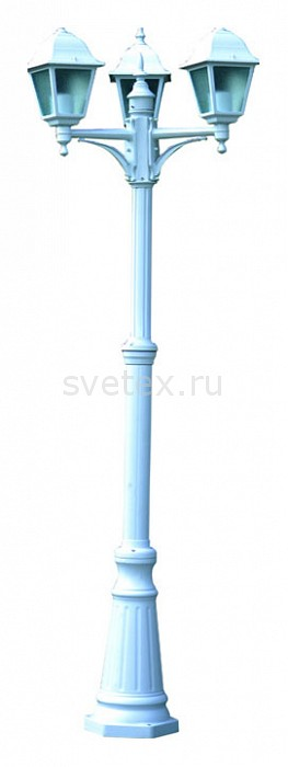 Фото Фонарный столб Arte Lamp Bremen A1017PA-3WH