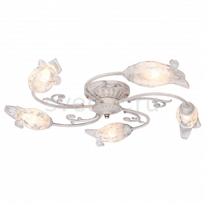 Потолочная люстра SilverLightЛюстры<br>Артикул - SL_709.51.5,Бренд - SilverLight (Франция),Коллекция - Largo,Гарантия, месяцы - 24,Высота, мм - 240,Диаметр, мм - 740,Тип лампы - компактная люминесцентная [КЛЛ] ИЛИнакаливания ИЛИсветодиодная [LED],Общее кол-во ламп - 5,Напряжение питания лампы, В - 220,Максимальная мощность лампы, Вт - 60,Лампы в комплекте - отсутствуют,Цвет плафонов и подвесок - неокрашенный с белым рисунком,Тип поверхности плафонов - матовый, прозрачный,Материал плафонов и подвесок - стекло,Цвет арматуры - белый с золотой патиной,Тип поверхности арматуры - матовый,Материал арматуры - металл,Количество плафонов - 5,Возможность подлючения диммера - можно, если установить лампу накаливания,Тип цоколя лампы - E14,Класс электробезопасности - I,Общая мощность, Вт - 300,Степень пылевлагозащиты, IP - 20,Диапазон рабочих температур - комнатная температура,Дополнительные параметры - способ крепления светильника на потолке - на монтажной пластине<br>