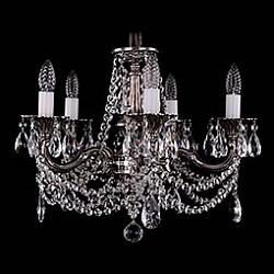 Подвесная люстра Bohemia Ivele Crystal5 или 6 ламп<br>Артикул - BI_1701_5_C_NB,Бренд - Bohemia Ivele Crystal (Чехия),Коллекция - 1701,Гарантия, месяцы - 12,Высота, мм - 400,Диаметр, мм - 560,Размер упаковки, мм - 450x450x200,Тип лампы - компактная люминесцентная [КЛЛ] ИЛИнакаливания ИЛИсветодиодная [LED],Общее кол-во ламп - 5,Напряжение питания лампы, В - 220,Максимальная мощность лампы, Вт - 40,Лампы в комплекте - отсутствуют,Цвет плафонов и подвесок - неокрашенный,Тип поверхности плафонов - прозрачный,Материал плафонов и подвесок - хрусталь,Цвет арматуры - никель черненый,Тип поверхности арматуры - глянцевый, рельефный,Материал арматуры - металл,Возможность подлючения диммера - можно, если установить лампу накаливания,Форма и тип колбы - свеча ИЛИ свеча на ветру,Тип цоколя лампы - E14,Класс электробезопасности - I,Общая мощность, Вт - 200,Степень пылевлагозащиты, IP - 20,Диапазон рабочих температур - комнатная температура,Дополнительные параметры - способ крепления светильника к потолку – на крюке<br>