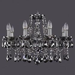 Подвесная люстра Bohemia Ivele CrystalБолее 6 ламп<br>Артикул - BI_1413_8_200_Ni_M781,Бренд - Bohemia Ivele Crystal (Чехия),Коллекция - 1413,Гарантия, месяцы - 24,Высота, мм - 400,Диаметр, мм - 570,Размер упаковки, мм - 450x450x200,Тип лампы - компактная люминесцентная [КЛЛ] ИЛИнакаливания ИЛИсветодиодная [LED],Общее кол-во ламп - 8,Напряжение питания лампы, В - 220,Максимальная мощность лампы, Вт - 40,Лампы в комплекте - отсутствуют,Цвет плафонов и подвесок - дымчатый черный,Тип поверхности плафонов - прозрачный,Материал плафонов и подвесок - хрусталь,Цвет арматуры - дымчатый черный, никель,Тип поверхности арматуры - глянцевый, прозрачный, рельефный,Материал арматуры - металл, стекло,Возможность подлючения диммера - можно, если установить лампу накаливания,Форма и тип колбы - свеча ИЛИ свеча на ветру,Тип цоколя лампы - E14,Класс электробезопасности - I,Общая мощность, Вт - 320,Степень пылевлагозащиты, IP - 20,Диапазон рабочих температур - комнатная температура,Дополнительные параметры - способ крепления светильника к потолку - на крюке, указана высота светильника без подвеса<br>