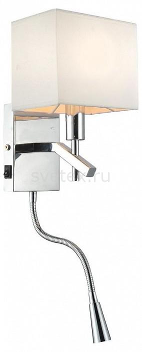 Бра с подсветкой OmniluxСветодиодные<br>Артикул - OM_OML-61801-02,Бренд - Omnilux (Италия),Коллекция - OML-618,Гарантия, месяцы - 12,Ширина, мм - 170,Высота, мм - 440,Выступ, мм - 165,Тип лампы - компактная люминесцентная [КЛЛ], светодиодная [LED] ИЛИнакаливания, светодиодная [LED] ИЛИсветодиодные [LED],Общее кол-во ламп - 2,Напряжение питания лампы, В - 220,Максимальная мощность лампы, Вт - 40, 1,Лампы в комплекте - светодиодная [LED],Цвет плафонов и подвесок - белый,Тип поверхности плафонов - матовый,Материал плафонов и подвесок - текстиль,Цвет арматуры - хром,Тип поверхности арматуры - глянцевый,Материал арматуры - металл,Количество плафонов - 1,Возможность подлючения диммера - можно, если установить лампу накаливания,Тип цоколя лампы - E14,Класс электробезопасности - I,Общая мощность, Вт - 41,Степень пылевлагозащиты, IP - 20,Диапазон рабочих температур - комнатная температура,Дополнительные параметры - способ крепления светильника на стене – на монтажной пластине, светильник предназначен для использования со скрытой проводкой, светильник декорирован 1 светодиодом общей мощностью 1 Вт<br>