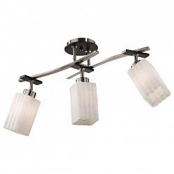 Люстра на штанге Odeon LightНе более 4 ламп<br>Артикул - OD_2283_3C,Бренд - Odeon Light (Италия),Коллекция - Nuki,Гарантия, месяцы - 24,Время изготовления, дней - 1,Высота, мм - 350,Тип лампы - компактная люминесцентная [КЛЛ] ИЛИнакаливания ИЛИсветодиодная [LED],Общее кол-во ламп - 3,Напряжение питания лампы, В - 220,Максимальная мощность лампы, Вт - 60,Лампы в комплекте - отсутствуют,Цвет плафонов и подвесок - белый,Тип поверхности плафонов - матовый, рельефный,Материал плафонов и подвесок - стекло,Цвет арматуры - венге, никель,Тип поверхности арматуры - матовый, глянцевый,Материал арматуры - металл,Возможность подлючения диммера - можно, если установить лампу накаливания,Тип цоколя лампы - E27,Класс электробезопасности - I,Общая мощность, Вт - 180,Степень пылевлагозащиты, IP - 20,Диапазон рабочих температур - комнатная температура<br>