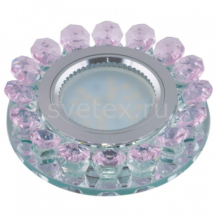 Встраиваемый светильник UnielСтеклянные<br>Примечание - розовый,Артикул - UL_10000,Бренд - Uniel (Китай),Коллекция - Luciole,Гарантия, месяцы - 24,Высота, мм - 40,Выступ, мм - 25,Глубина, мм - 15,Диаметр, мм - 95,Размер врезного отверстия, мм - d65,Тип лампы - светодиодная (LED), галогеновая,Общее кол-во ламп - 1,Напряжение питания лампы, В - 12,Максимальная мощность лампы, Вт - 35,Лампы в комплекте - отсутствуют,Цвет плафонов и подвесок - розовый,Тип поверхности плафонов - прозрачный,Материал плафонов и подвесок - стекло,Цвет арматуры - хром,Тип поверхности арматуры - глянцевый,Материал арматуры - металл,Возможность подлючения диммера - можно, если установить галогеновую лампу,Компоненты, входящие в комплект - Трансформатор 12 В,Форма и тип колбы - полусферическая с рефлектором,Тип цоколя лампы - GU5.3,Класс электробезопасности - I,Напряжение питания, В - 220,Степень пылевлагозащиты, IP - 20,Диапазон рабочих температур - комнатная температура<br>