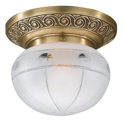 Накладной светильник Reccagni AngeloКруглые<br>Артикул - RA_PL_7744_1,Бренд - Reccagni Angelo (Италия),Коллекция - 7743,Гарантия, месяцы - 24,Выступ, мм - 140,Диаметр, мм - 160,Тип лампы - компактная люминесцентная [КЛЛ] ИЛИнакаливания ИЛИсветодиодная [LED],Общее кол-во ламп - 1,Напряжение питания лампы, В - 220,Максимальная мощность лампы, Вт - 60,Лампы в комплекте - отсутствуют,Цвет плафонов и подвесок - белый с рисунком,Тип поверхности плафонов - матовый,Материал плафонов и подвесок - стекло,Цвет арматуры - бронза состаренная,Тип поверхности арматуры - матовый, рельефный,Материал арматуры - латунь,Количество плафонов - 1,Возможность подлючения диммера - можно, если установить лампу накаливания,Тип цоколя лампы - E27,Класс электробезопасности - I,Степень пылевлагозащиты, IP - 20,Диапазон рабочих температур - комнатная температура,Дополнительные параметры - способ крепления к потолку - на монтажной пластине<br>