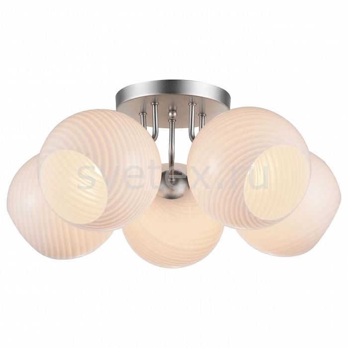 Потолочная люстра ST-LuceЛюстры<br>Артикул - SL716.502.05,Бренд - ST-Luce (Италия),Коллекция - Palloni,Гарантия, месяцы - 24,Время изготовления, дней - 1,Высота, мм - 290,Диаметр, мм - 560,Тип лампы - компактная люминесцентная [КЛЛ] ИЛИнакаливания ИЛИсветодиодная [LED],Общее кол-во ламп - 5,Напряжение питания лампы, В - 220,Максимальная мощность лампы, Вт - 40,Лампы в комплекте - отсутствуют,Цвет плафонов и подвесок - белый,Тип поверхности плафонов - матовый, рельефный,Материал плафонов и подвесок - стекло,Цвет арматуры - серебро,Тип поверхности арматуры - матовый,Материал арматуры - металл,Количество плафонов - 5,Возможность подлючения диммера - можно, если установить лампу накаливания,Тип цоколя лампы - E27,Класс электробезопасности - I,Общая мощность, Вт - 200,Степень пылевлагозащиты, IP - 20,Диапазон рабочих температур - комнатная температура,Дополнительные параметры - способ крепления светильника к потолку – на монтажной пластине<br>
