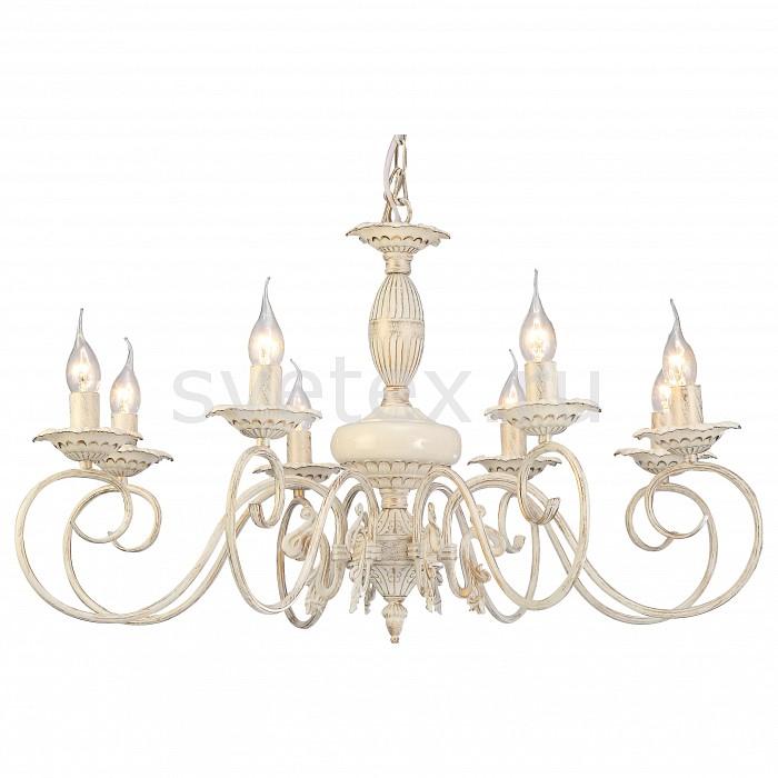 Подвесная люстра Arte LampЛюстры<br>Артикул - AR_A5333LM-8WG,Бренд - Arte Lamp (Италия),Коллекция - Tilly,Гарантия, месяцы - 24,Высота, мм - 470-530,Диаметр, мм - 750,Тип лампы - компактная люминесцентная [КЛЛ] ИЛИнакаливания ИЛИсветодиодная [LED],Общее кол-во ламп - 8,Напряжение питания лампы, В - 220,Максимальная мощность лампы, Вт - 40,Лампы в комплекте - отсутствуют,Цвет арматуры - белый, золото,Тип поверхности арматуры - матовый, рельефный,Материал арматуры - керамика, металл,Возможность подлючения диммера - можно, если установить лампу накаливания,Форма и тип колбы - свеча ИЛИ свеча на ветру,Тип цоколя лампы - E14,Класс электробезопасности - I,Общая мощность, Вт - 320,Степень пылевлагозащиты, IP - 20,Диапазон рабочих температур - комнатная температура,Дополнительные параметры - способ крепления светильника к потолоку - на крюке<br>