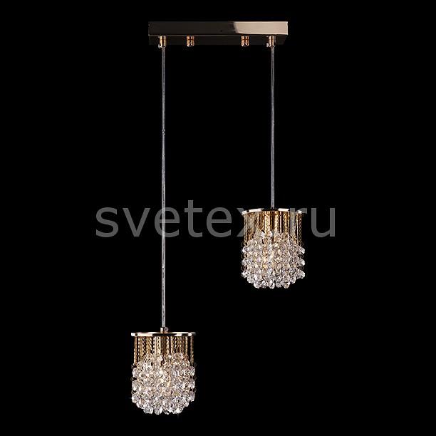 Фото Подвесной светильник Eurosvet 3121 3121/2 золото/прозрачный хрусталь Strotskis