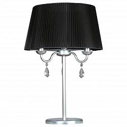 Настольная лампа АврораТекстильный плафон<br>Артикул - AV_10088-3N,Бренд - Аврора (Россия),Коллекция - Адажио,Гарантия, месяцы - 24,Высота, мм - 560,Диаметр, мм - 380,Тип лампы - компактная люминесцентная [КЛЛ] ИЛИнакаливания ИЛИсветодиодная  [LED],Общее кол-во ламп - 3,Напряжение питания лампы, В - 220,Максимальная мощность лампы, Вт - 60,Лампы в комплекте - отсутствуют,Цвет плафонов и подвесок - неокрашенный, черный,Тип поверхности плафонов - матовый, прозрачный,Материал плафонов и подвесок - органза, хрусталь,Цвет арматуры - хром,Тип поверхности арматуры - глянцевый,Материал арматуры - металл,Тип цоколя лампы - E14,Класс электробезопасности - II,Общая мощность, Вт - 180,Степень пылевлагозащиты, IP - 20,Диапазон рабочих температур - комнатная температура<br>