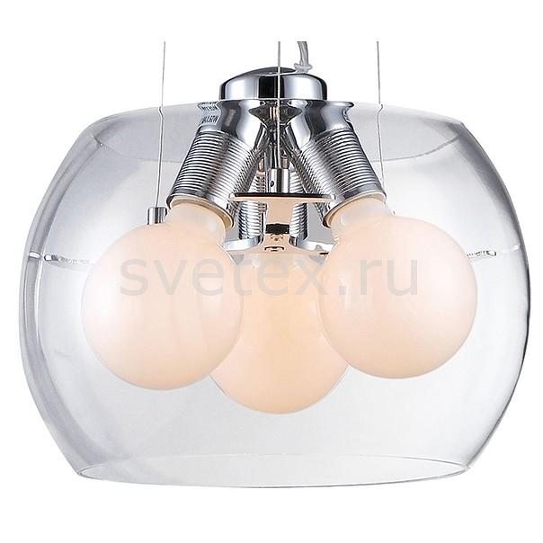 Подвесной светильник ST-LuceСветильники<br>Артикул - SL512.103.03,Бренд - ST-Luce (Китай),Коллекция - Uovo,Гарантия, месяцы - 24,Высота, мм - 1300,Диаметр, мм - 300,Размер упаковки, мм - 380x380x295,Тип лампы - накаливания,Общее кол-во ламп - 3,Напряжение питания лампы, В - 220,Максимальная мощность лампы, Вт - 60,Цвет лампы - белый теплый,Лампы в комплекте - накаливания E27,Цвет плафонов и подвесок - белый, неокрашенный,Тип поверхности плафонов - матовый, прозрачный,Материал плафонов и подвесок - стекло,Цвет арматуры - хром,Тип поверхности арматуры - глянцевый,Материал арматуры - металл,Количество плафонов - 1,Возможность подлючения диммера - можно,Форма и тип колбы - сферическая,Тип цоколя лампы - E27,Цветовая температура, K - 2800 K,Класс электробезопасности - I,Общая мощность, Вт - 180,Степень пылевлагозащиты, IP - 20,Диапазон рабочих температур - комнатная температура,Дополнительные параметры - способ крепления светильника к потолку - на монтажной пластине<br>