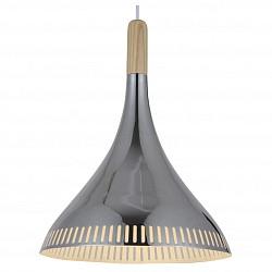 Подвесной светильник ST-LuceБарные<br>Артикул - SL710.103.01,Бренд - ST-Luce (Китай),Коллекция - SL710,Гарантия, месяцы - 24,Высота, мм - 400-1100,Диаметр, мм - 300,Размер упаковки, мм - 365х365х470,Тип лампы - компактная люминесцентная [КЛЛ] ИЛИнакаливания ИЛИсветодиодная [LED],Общее кол-во ламп - 1,Напряжение питания лампы, В - 220,Максимальная мощность лампы, Вт - 60,Лампы в комплекте - отсутствуют,Цвет плафонов и подвесок - сосна, хром,Тип поверхности плафонов - глянцевый, матовый, металлик,Материал плафонов и подвесок - дерево, металл,Цвет арматуры - хром,Тип поверхности арматуры - глянцевый, металлик,Материал арматуры - металл,Возможность подлючения диммера - можно, если установить лампу накаливания,Тип цоколя лампы - E27,Класс электробезопасности - I,Степень пылевлагозащиты, IP - 20,Диапазон рабочих температур - комнатная температура,Дополнительные параметры - регулируется по высоте, способ крепления светильника к потолку – на монтажной пластине<br>