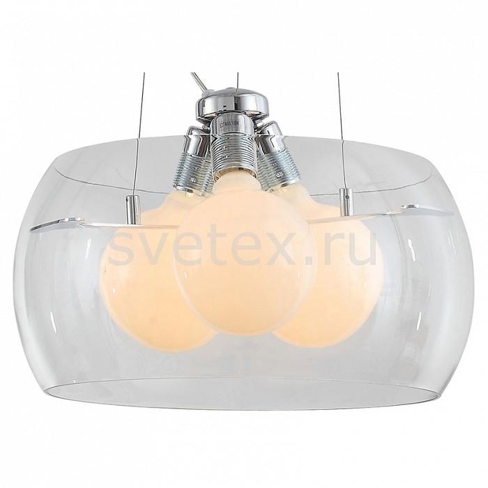 Подвесной светильник ST-LuceСветильники<br>Артикул - SL512.113.03,Бренд - ST-Luce (Китай),Коллекция - Uovo,Гарантия, месяцы - 24,Высота, мм - 1300,Диаметр, мм - 400,Размер упаковки, мм - 470x470x310,Тип лампы - накаливания,Общее кол-во ламп - 3,Напряжение питания лампы, В - 220,Максимальная мощность лампы, Вт - 60,Цвет лампы - белый теплый,Лампы в комплекте - накаливания E27,Цвет плафонов и подвесок - белый, неокрашенный,Тип поверхности плафонов - матовый, прозрачный,Материал плафонов и подвесок - стекло,Цвет арматуры - хром,Тип поверхности арматуры - глянцевый,Материал арматуры - металл,Количество плафонов - 1,Возможность подлючения диммера - можно,Форма и тип колбы - сферическая,Тип цоколя лампы - E27,Цветовая температура, K - 2800 K,Класс электробезопасности - I,Общая мощность, Вт - 180,Степень пылевлагозащиты, IP - 20,Диапазон рабочих температур - комнатная температура,Дополнительные параметры - способ крепления светильника к потолку - на монтажной пластине<br>
