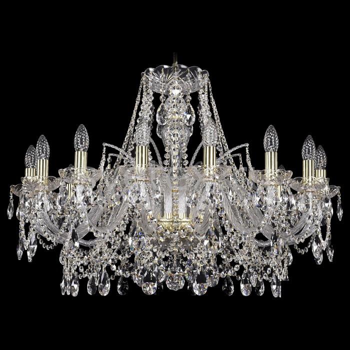 Подвесная люстра Bohemia Ivele CrystalБолее 6 ламп<br>Артикул - BI_1411_16_300_G,Бренд - Bohemia Ivele Crystal (Чехия),Коллекция - 1411,Гарантия, месяцы - 24,Высота, мм - 610,Диаметр, мм - 870,Размер упаковки, мм - 640x640x320,Тип лампы - компактная люминесцентная [КЛЛ] ИЛИнакаливания ИЛИсветодиодная [LED],Количество ламп - 21,Общее кол-во ламп - 16,Напряжение питания лампы, В - 220,Максимальная мощность лампы, Вт - 40,Лампы в комплекте - отсутствуют,Цвет плафонов и подвесок - неокрашенный,Тип поверхности плафонов - прозрачный,Материал плафонов и подвесок - хрусталь,Цвет арматуры - золото, неокрашенный,Тип поверхности арматуры - глянцевый, прозрачный,Материал арматуры - металл, стекло,Возможность подлючения диммера - можно, если установить лампу накаливания,Форма и тип колбы - свеча ИЛИ свеча на ветру,Тип цоколя лампы - E14,Класс электробезопасности - I,Общая мощность, Вт - 1080,Степень пылевлагозащиты, IP - 20,Диапазон рабочих температур - комнатная температура,Дополнительные параметры - способ крепления светильника к потолку - на крюке, указана высота светильники без подвеса<br>