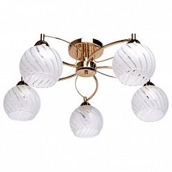 Потолочная люстра De Markt5 или 6 ламп<br>Артикул - MW_358018105,Бренд - De Markt (Германия),Коллекция - Грация 2,Гарантия, месяцы - 24,Высота, мм - 250,Диаметр, мм - 600,Тип лампы - компактная люминесцентная [КЛЛ] ИЛИнакаливания ИЛИсветодиодная [LED],Общее кол-во ламп - 5,Напряжение питания лампы, В - 220,Максимальная мощность лампы, Вт - 60,Лампы в комплекте - отсутствуют,Цвет плафонов и подвесок - белый с неокрашенным с рисунком,Тип поверхности плафонов - матовый, прозрачный,Материал плафонов и подвесок - стекло,Цвет арматуры - золото,Тип поверхности арматуры - глянцевый,Материал арматуры - металл,Возможность подлючения диммера - можно, если установить лампу накаливания,Тип цоколя лампы - E27,Класс электробезопасности - I,Общая мощность, Вт - 300,Степень пылевлагозащиты, IP - 20,Диапазон рабочих температур - комнатная температура,Дополнительные параметры - способ крепления светильника на потолке - на монтажной пластине<br>