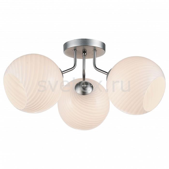 Потолочная люстра ST-LuceЛюстры<br>Артикул - SL716.502.03,Бренд - ST-Luce (Китай),Коллекция - Palloni,Гарантия, месяцы - 24,Время изготовления, дней - 1,Высота, мм - 290,Диаметр, мм - 520,Размер упаковки, мм - 490х490х240,Тип лампы - компактная люминесцентная [КЛЛ] ИЛИнакаливания ИЛИсветодиодная [LED],Общее кол-во ламп - 3,Напряжение питания лампы, В - 220,Максимальная мощность лампы, Вт - 60,Лампы в комплекте - отсутствуют,Цвет плафонов и подвесок - белый,Тип поверхности плафонов - матовый, рельефный,Материал плафонов и подвесок - стекло,Цвет арматуры - серебро,Тип поверхности арматуры - матовый,Материал арматуры - металл,Количество плафонов - 3,Возможность подлючения диммера - можно, если установить лампу накаливания,Тип цоколя лампы - E27,Класс электробезопасности - I,Общая мощность, Вт - 180,Степень пылевлагозащиты, IP - 20,Диапазон рабочих температур - комнатная температура,Дополнительные параметры - способ крепления светильника к потолку – на монтажной пластине<br>