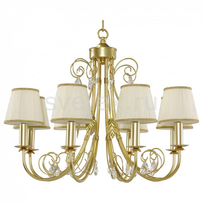 Подвесная люстра LightstarСветильники<br>Артикул - LS_781082,Бренд - Lightstar (Италия),Коллекция - Modesto,Гарантия, месяцы - 24,Высота, мм - 750-1280,Диаметр, мм - 650,Тип лампы - компактная люминесцентная [КЛЛ] ИЛИнакаливания ИЛИсветодиодная [LED],Общее кол-во ламп - 8,Напряжение питания лампы, В - 220,Максимальная мощность лампы, Вт - 40,Лампы в комплекте - отсутствуют,Цвет плафонов и подвесок - белый, неокрашенный,Тип поверхности плафонов - матовый, прозрачный,Материал плафонов и подвесок - текстиль, хрусталь,Цвет арматуры - золото,Тип поверхности арматуры - глянцевый,Материал арматуры - металл,Количество плафонов - 8,Возможность подлючения диммера - можно, если установить лампу накаливания,Тип цоколя лампы - E14,Класс электробезопасности - I,Общая мощность, Вт - 320,Степень пылевлагозащиты, IP - 20,Диапазон рабочих температур - комнатная температура,Дополнительные параметры - способ крепления светильника к потолку - на крюке, регулируется по высоте<br>