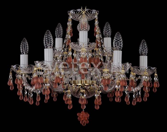 Фото Подвесная люстра Bohemia Ivele Crystal 1410 1410/6_3/195/G/7010