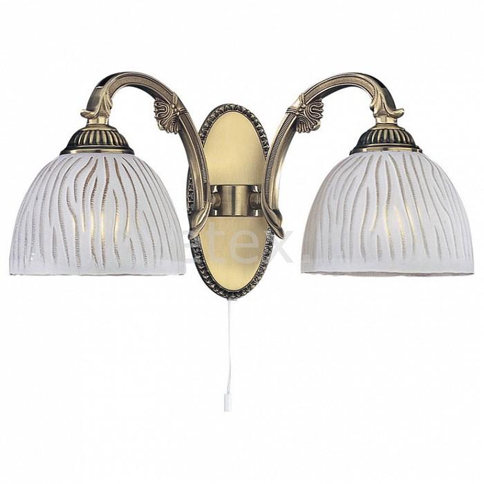 Бра Reccagni AngeloНастенные светильники<br>Артикул - RA_A_5650_2,Бренд - Reccagni Angelo (Италия),Коллекция - 5650,Гарантия, месяцы - 24,Ширина, мм - 360,Высота, мм - 180,Выступ, мм - 200,Тип лампы - компактная люминесцентная [КЛЛ] ИЛИнакаливания ИЛИсветодиодная [LED],Общее кол-во ламп - 2,Напряжение питания лампы, В - 220,Максимальная мощность лампы, Вт - 60,Лампы в комплекте - отсутствуют,Цвет плафонов и подвесок - белый с рисунком,Тип поверхности плафонов - матовый,Материал плафонов и подвесок - стекло,Цвет арматуры - бронза состаренная,Тип поверхности арматуры - матовый, рельефный,Материал арматуры - латунь,Количество плафонов - 1,Наличие выключателя, диммера или пульта ДУ - выключатель шнуровой,Возможность подлючения диммера - можно, если установить лампу накаливания,Тип цоколя лампы - E27,Класс электробезопасности - I,Общая мощность, Вт - 120,Степень пылевлагозащиты, IP - 20,Диапазон рабочих температур - комнатная температура,Дополнительные параметры - способ крепления светильника на стене – на монтажной пластине, светильник предназначен для использования со скрытой проводкой<br>