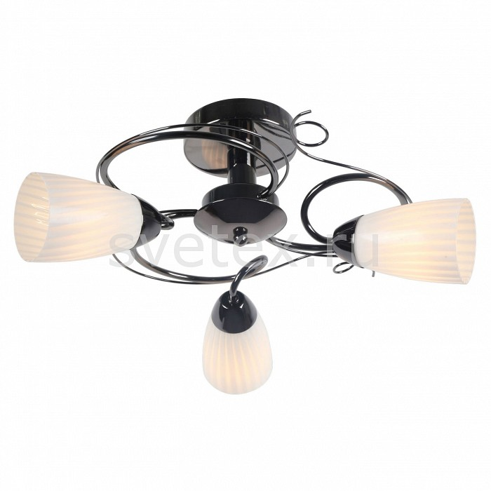 Люстра на штанге Arte LampЛюстры<br>Артикул - AR_A6545PL-3BC,Бренд - Arte Lamp (Италия),Коллекция - Alessia,Гарантия, месяцы - 24,Высота, мм - 250,Диаметр, мм - 500,Тип лампы - компактная люминесцентная [КЛЛ] ИЛИнакаливания ИЛИсветодиодная [LED],Общее кол-во ламп - 3,Напряжение питания лампы, В - 220,Максимальная мощность лампы, Вт - 40,Лампы в комплекте - отсутствуют,Цвет плафонов и подвесок - белый полосатый,Тип поверхности плафонов - матовый,Материал плафонов и подвесок - стекло,Цвет арматуры - хром черный,Тип поверхности арматуры - глянцевый,Материал арматуры - металл,Количество плафонов - 3,Возможность подлючения диммера - можно, если установить лампу накаливания,Тип цоколя лампы - E14,Класс электробезопасности - I,Общая мощность, Вт - 120,Степень пылевлагозащиты, IP - 20,Диапазон рабочих температур - комнатная температура,Дополнительные параметры - способ крепления светильника к потолку - на монтажной пластине<br>